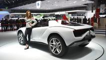 Italdesign Giugiaro Parcour Roadster white at 2013 Geneva Motor Show