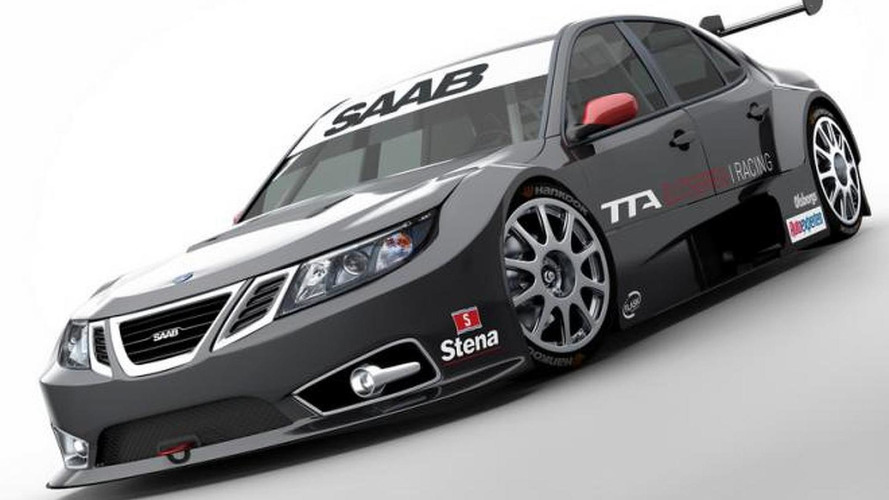 Saab 9-3 TTA race car in motion - first test [video]