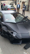 Lamborghini Aventador crash in London