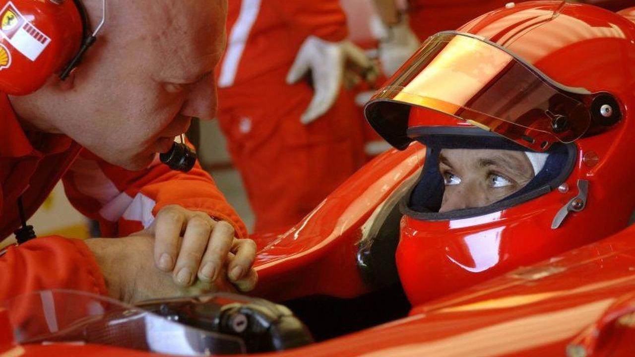 Valentino Rossi in Ferrari F1 car