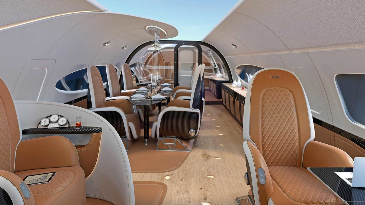 Airbus Pagani jet kabin tasarımı