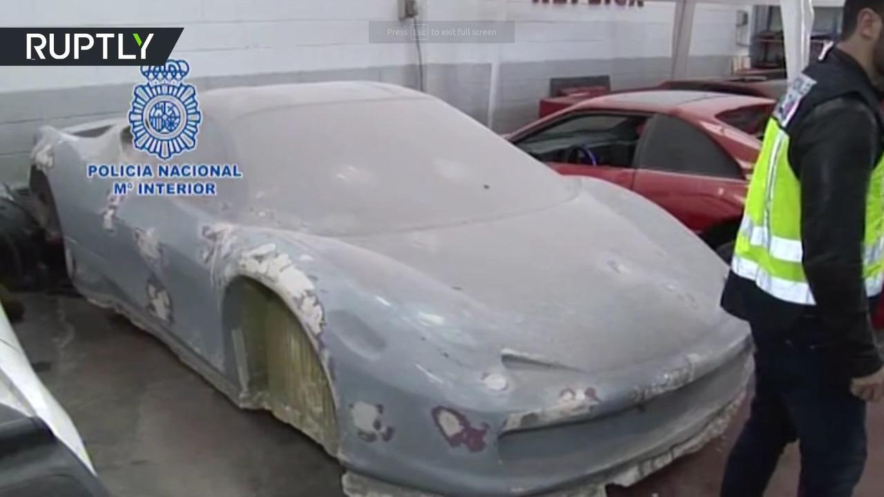 İspanya'da sahte Lamborghini ve Ferrari'ler satan mağazaya baskın düzenlendi