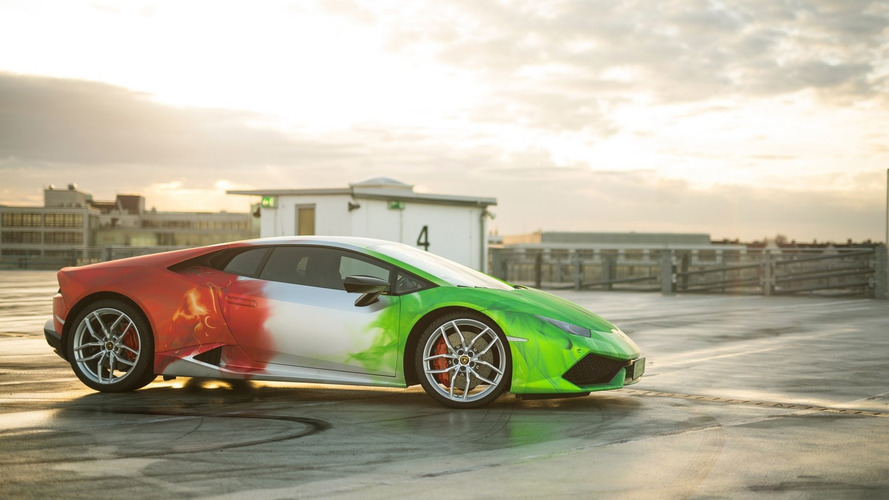 Lamborghini Huracan gets extravagant tricolor wrap and extra power