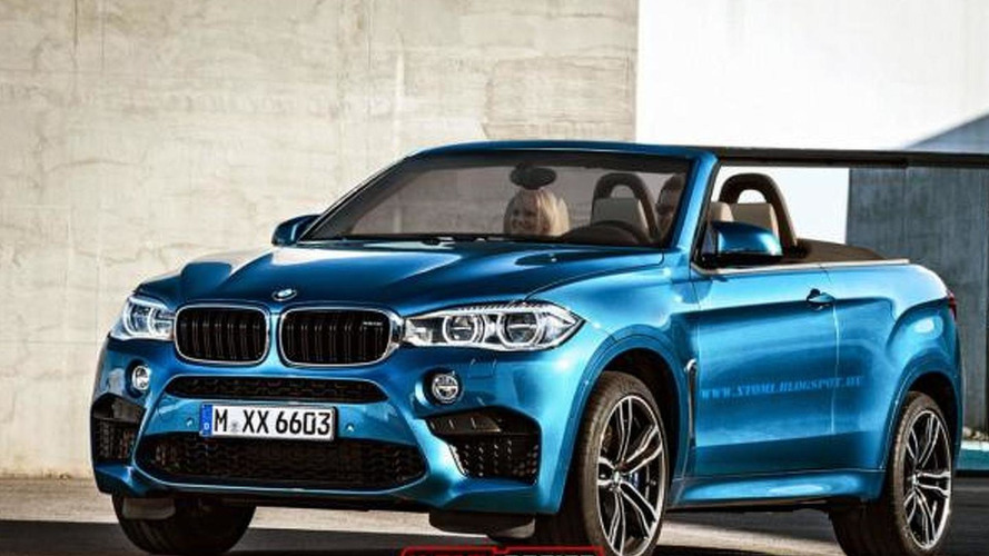 BMW X6 M rendered as a high-performance convertible