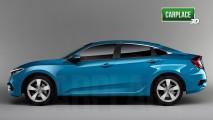 Este é o novo Honda Civic coupé que vai suceder o Si em 2016