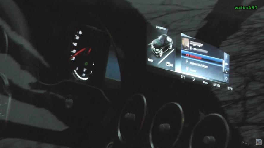 2018 Mercedes C-Class Spied At Dusk With New Infotainment Screen