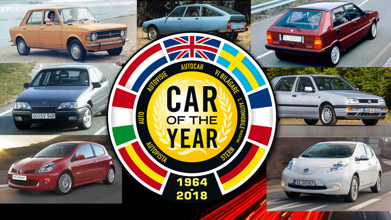 All European Car of the Year winners