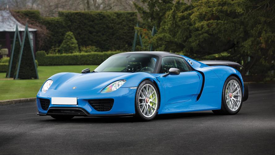 Only Arrow Blue Porsche 918 Spyder Auction