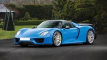 Une Porsche 918 Spyder Arrow Blue à vendre aux enchères