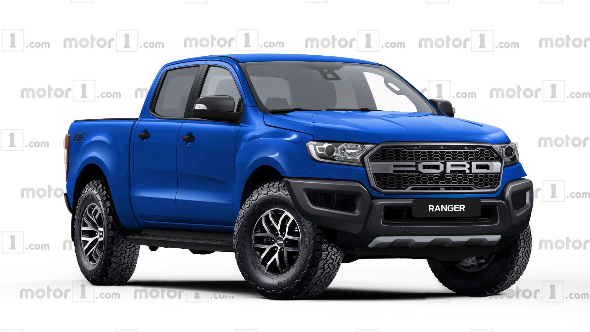 ford ranger raptor rendered ready to rival colorado zr2. Black Bedroom Furniture Sets. Home Design Ideas