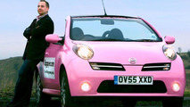 Pink Nissan Micra C+C for Charity