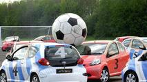 Footbal Playing Toyota Aygos