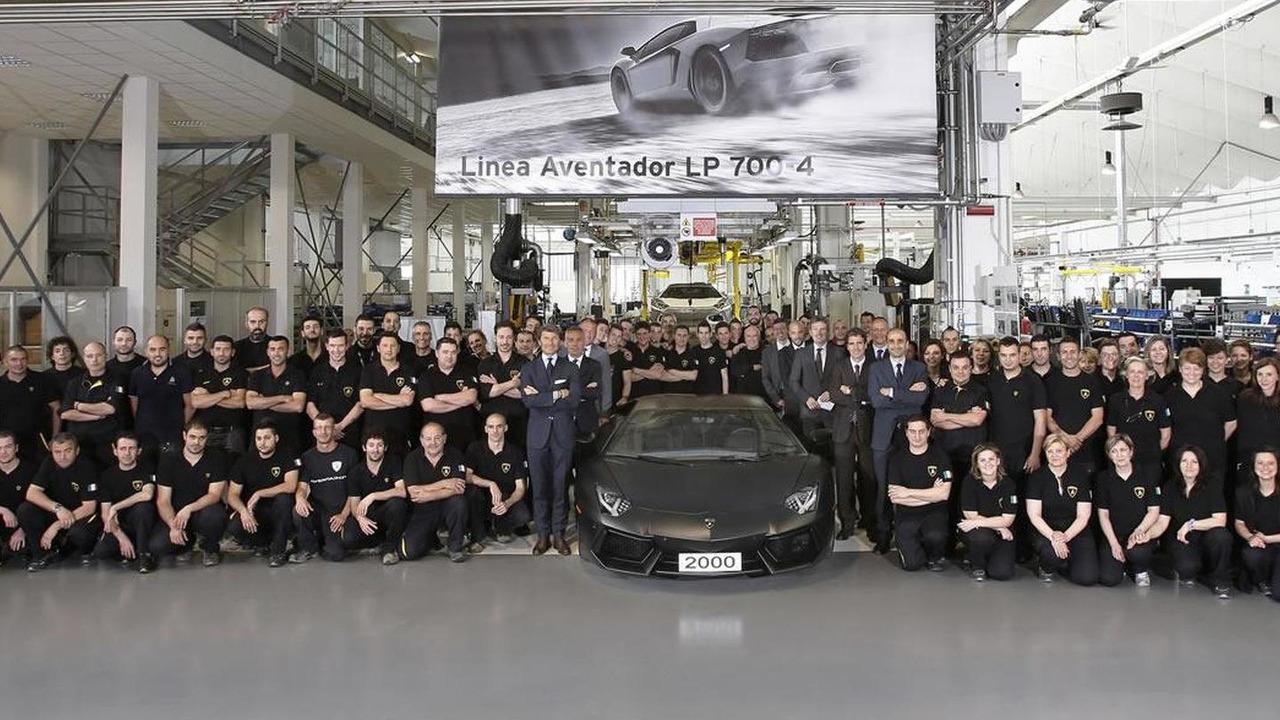 2,000th Lamborghini Aventador 07.06.2013