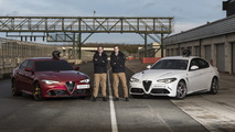 Alfa Romeo Giulia sets fastest blindfolded lap record at Silverstone