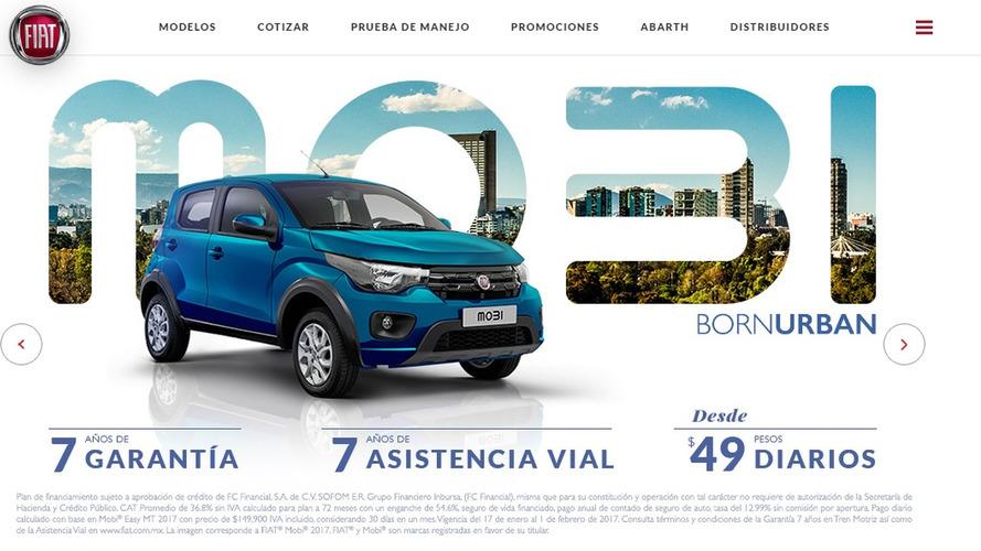 Fiat Mobi vai ao México com garantia de 7 anos e preço inicial de R$ 22,5 mil