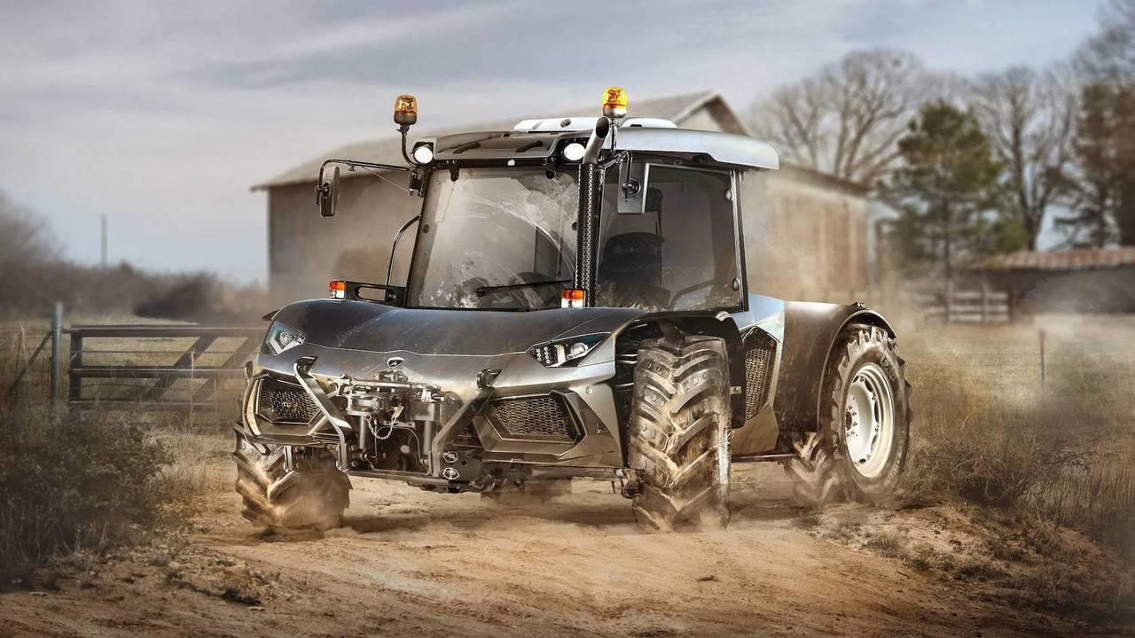 Lamborghini Aventador and Tractor mashup
