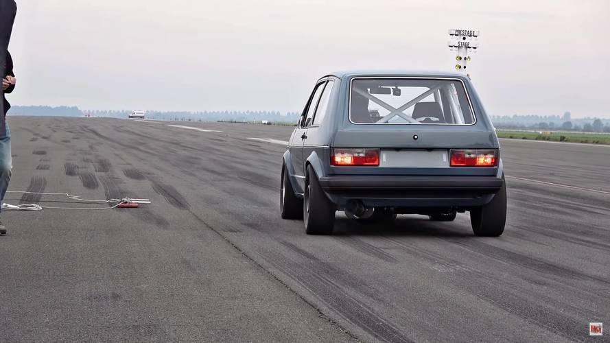 308 km/órás sebességgel szaggatta az aszfaltot az 1000+ lóerős Mk1-es Golf