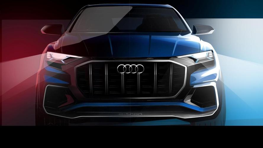 Audi Q8 E-tron konseptinin görüntüsü Detroit öncesi gösterildi