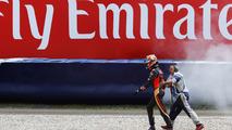 Daniil Kvyat, Scuderia Toro Rosso after a big crash, Austrian GP 2016