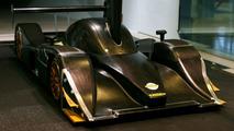 Lola Le Mans prototype scale model in wind tunnel