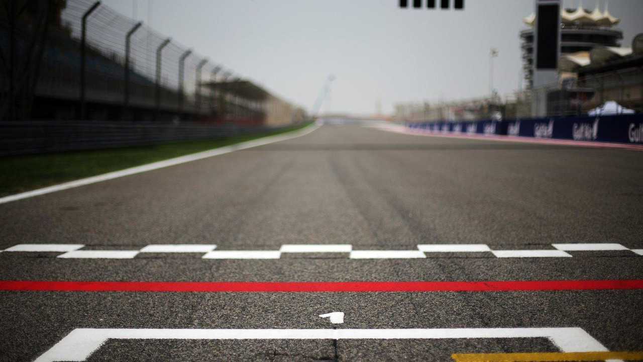 View from pole position on the grid 18.04.2013 Bahrain Grand Prix