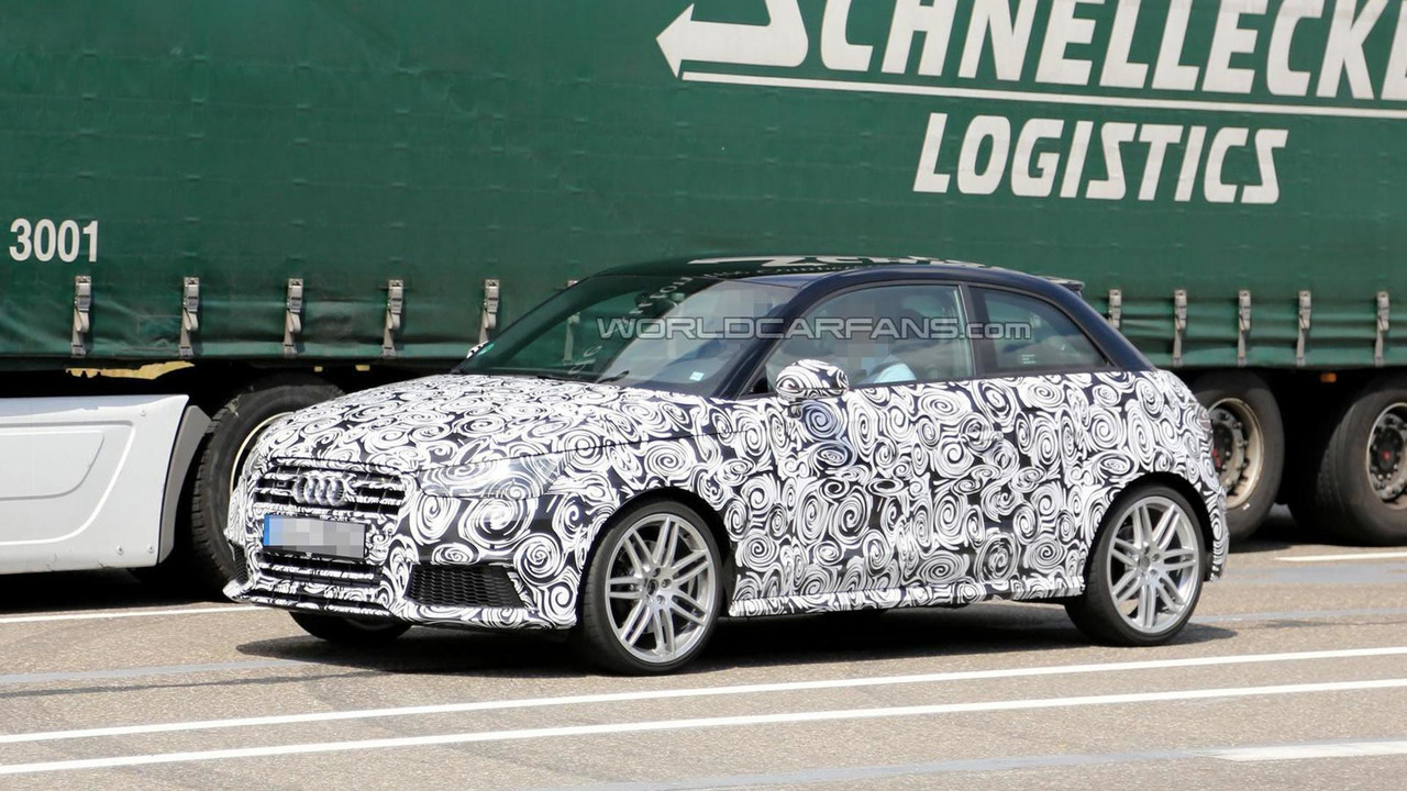 2014 Audi A1 facelift spy photo 13.08.2013