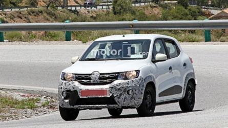 Renault Kwid é flagrado em testes escondendo mudanças no design