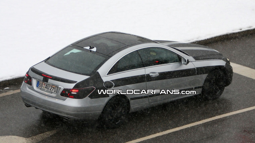 Mercedes E-Class Coupe Spied with Glass Roof