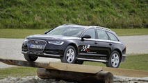 Audi A6 allroad in the offroad-course