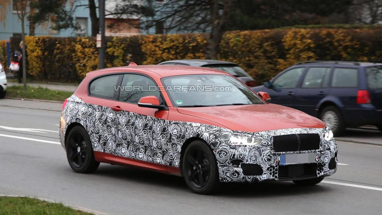 BMW 1-Series facelift spy photo