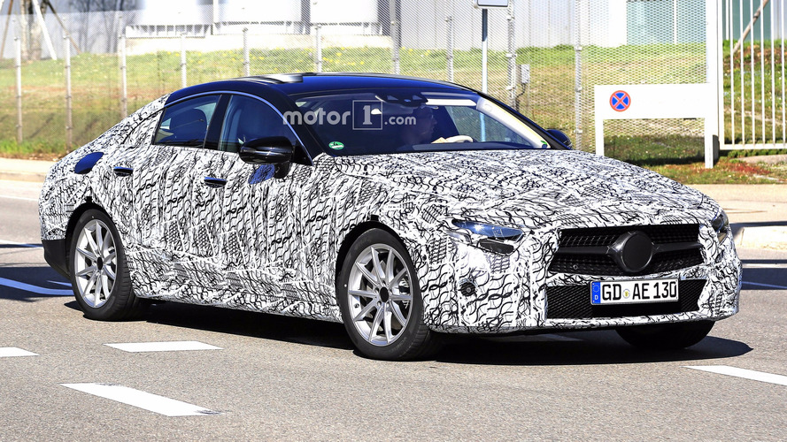 2018 Mercedes-Benz CLS Spied As Camo Begins To Come Off