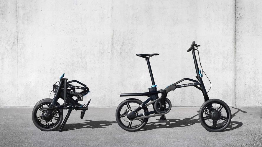 Peugeot eF01, la bicicleta plegable para el 5008