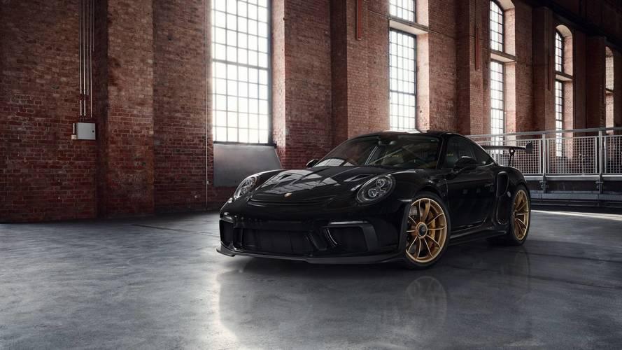 Porsche 911 GT3 RS altın rengi jantlarıyla çok şık görünüyor