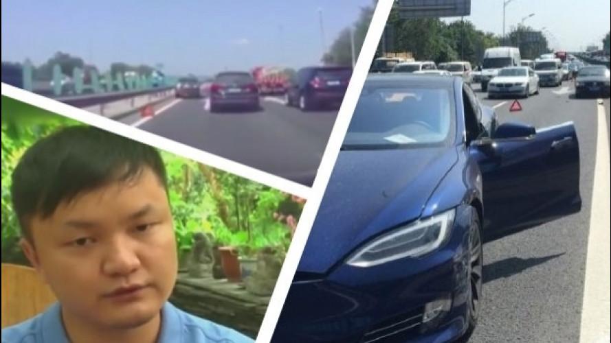 Tesla Model S, così l'incidente con l'Autopilot in Cina [VIDEO]