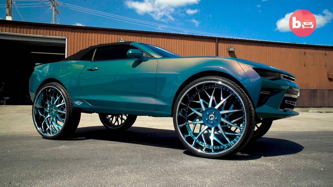 2016 Chevy Camaro Convertible On 32 Inch Forgiato Blocco Wheels Motor1 Com Photos