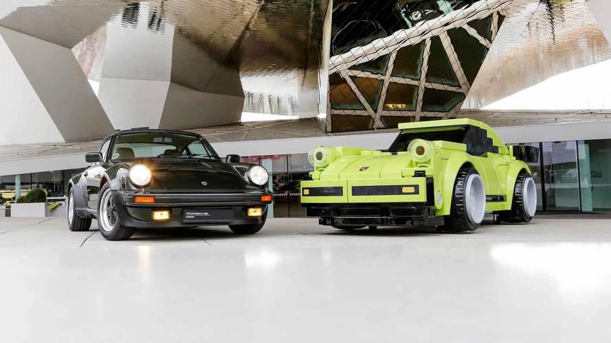 Life-sized Porsche 911 Turbo Lego Sculpture