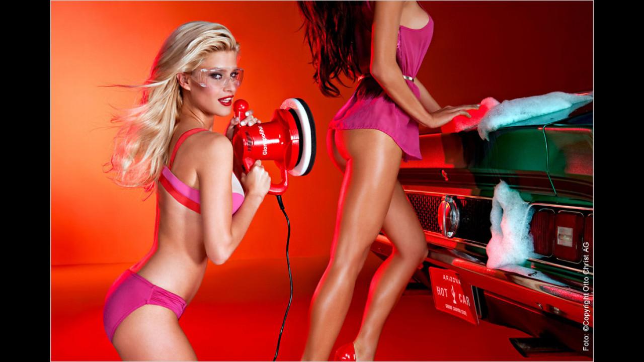 Auch elektrische Hilfsmaschinen sind den Damen nicht unbekannt