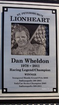 Dan Wheldon Memorial and Victory Circle unveiling ceremony- Dan Wheldon Memorial detail