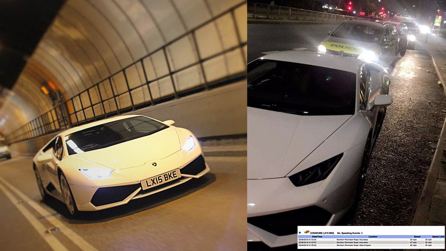 London police officers disciplined for joyriding a Lamborghini