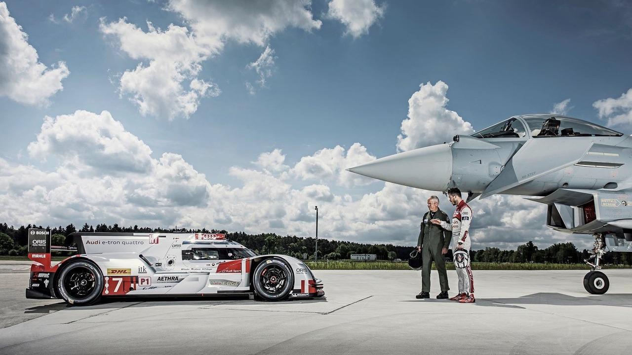 Audi R18 e-tron quattro with Eurofighter
