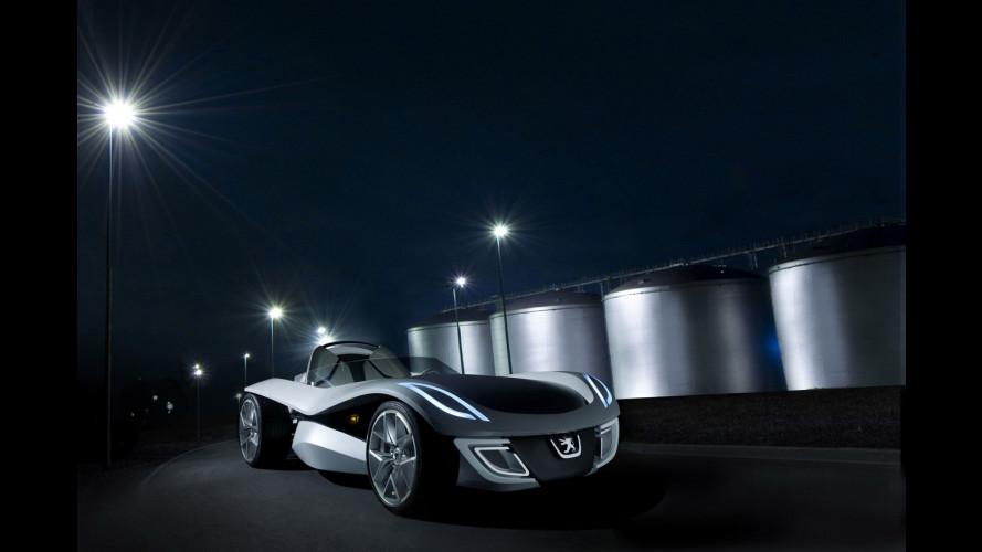 La Peugeot Flux in scala reale a Francoforte