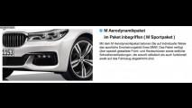 Novo BMW Série 7 2016 vaza antes de estreia em configurador online