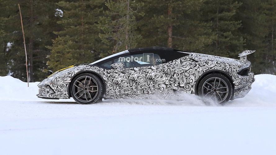 2018 Lamborghini Huracan Spyder Performante ve Huracan Superleggera casus fotoğrafları