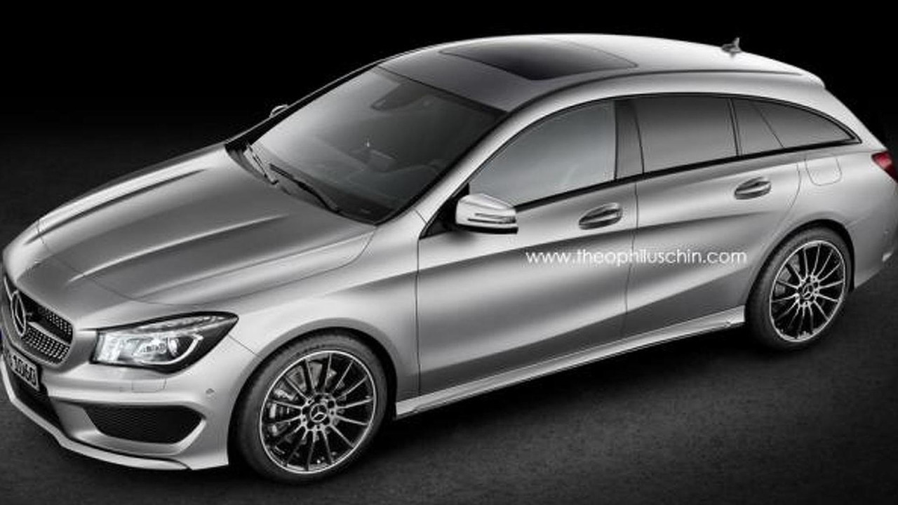 Mercedes-Benz CLA Shooting Brake speculative render