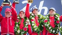 LMGT Am podium_ class winners 62 Scuderia Corsa Ferrari