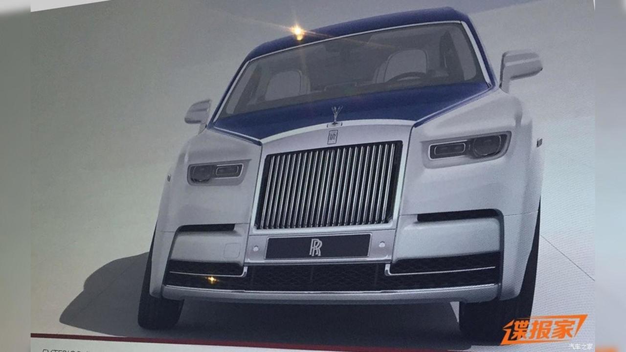 2018 Rolls-Royce Phantom sızdırılan broşür görüntüleri