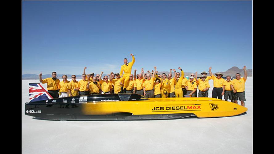Schnellster Diesel der Welt: Rekord auf dem Bonneville Lake