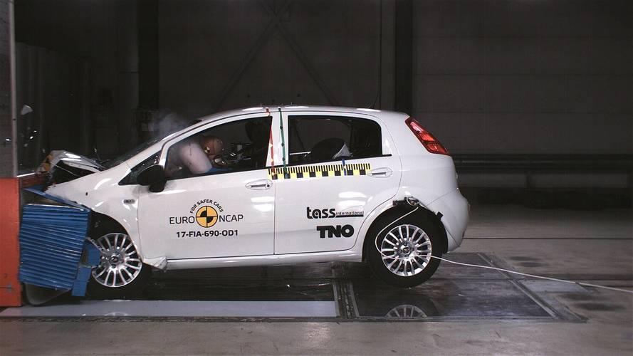 Fiat Punto Euro NCAP çarpışma testlerinden sıfır yıldız aldı