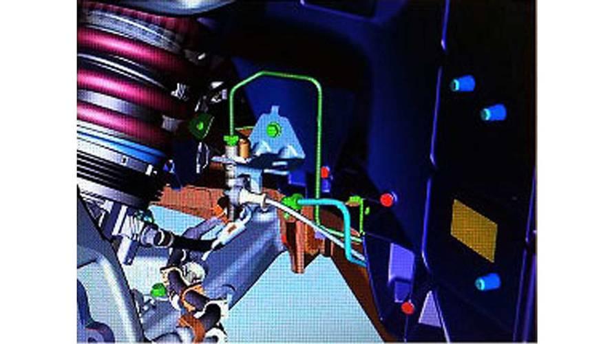 Leaked C8 Corvette CAD image