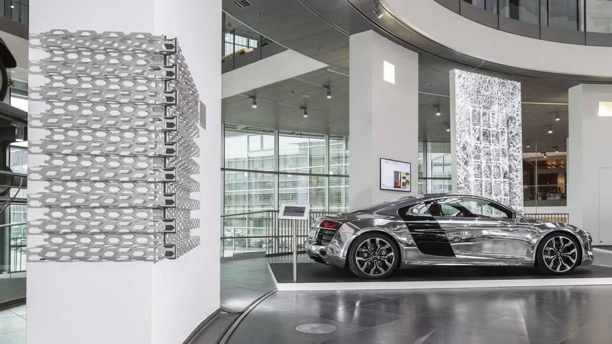 Audi exposición aluminio